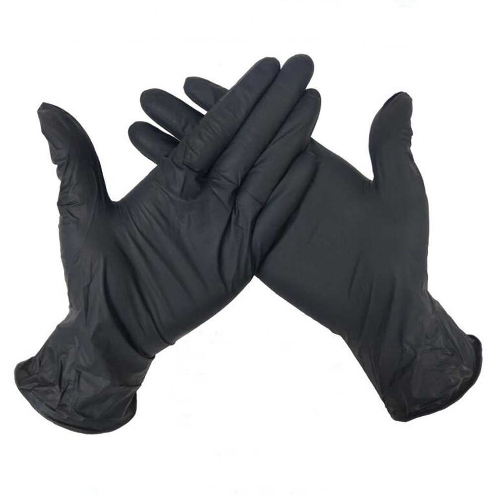 Image 4 - 100pcs Disposable Black Gloves Household Cleaning Washing Gloves 