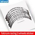 RACING 3 Carbon Wiel Stickers voor racefiets fiets racing3 R3 vinyl race dirt fietsen Decals cyclus accessoire