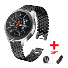 цена на Stainless steel strap for samsung galaxy watch 46mm S3 frontier band huawei watch gt huami amazfit 1/2 bracelet belt Accessories