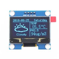 1 3 inch OLED IIC GND LCD Auflösung 128*64 1 3 zoll Farbe LCD Display Modul mit Großen Betrachtung Winkel fahrer IC SH1106-in Handy-LCDs aus Handys & Telekommunikation bei