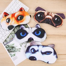 1PC Unisex 3D Cute Cartoon Creative Soft Cat Sleep Eye Mask Eyeshade Cover Shade Natural Sleeping Patch Travel Blindfold