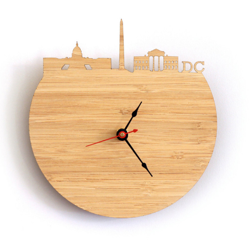 Clock - Washington Natural Bamboo Wall Clock