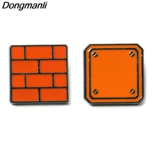 P3962 Dongmanli Funny Jewelry Super Mario Metal Enamel Pins and Brooches for Lapel Hat Pin Badge Kids Gifts Accessories