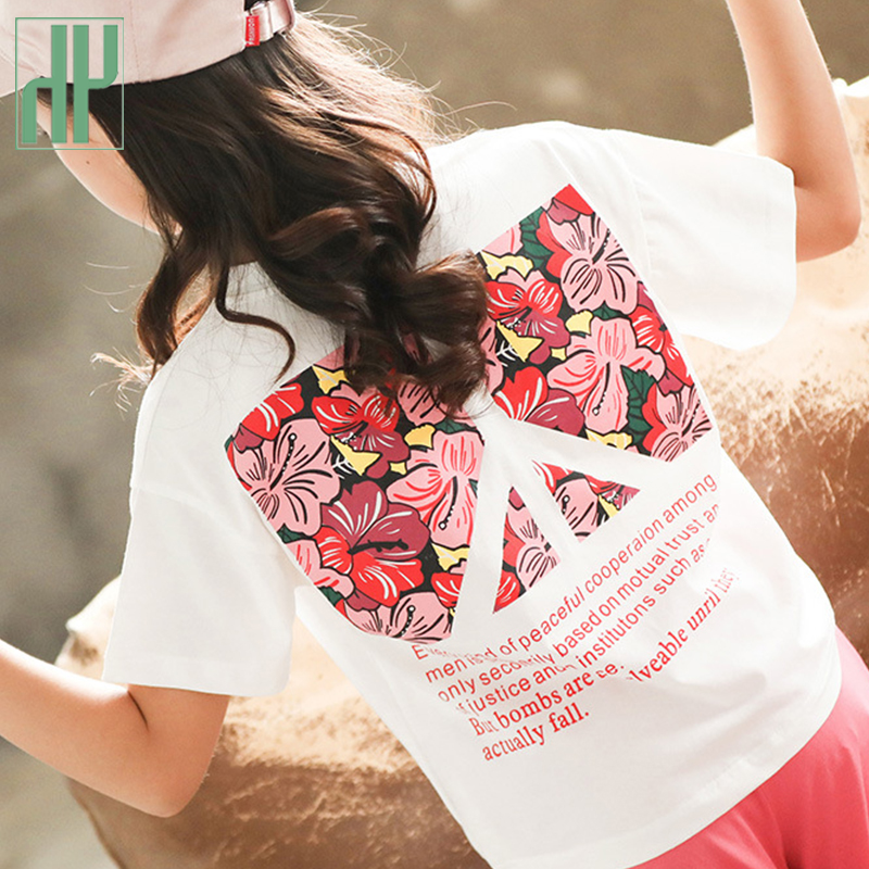 Kds summer clothes Short Sleeve printing T-Shirt Tops+Shorts Suits Outfits Baby Children's Clothes 2PC Set 3 8 10T Baby Kids