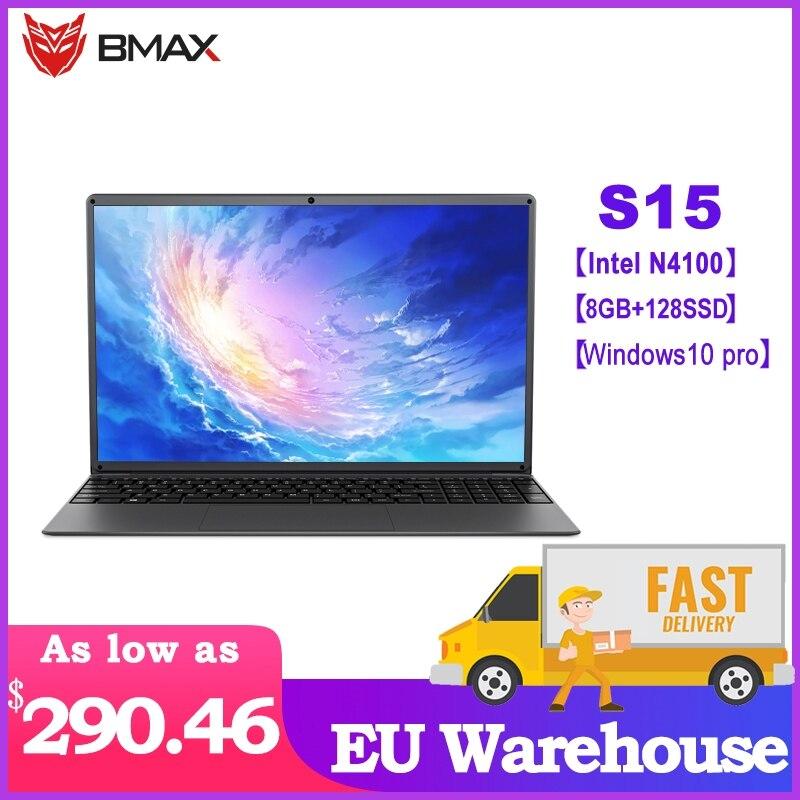 BMAX S15 Laptop Intel Gemini Lake N4100 15.6 Inch  Intel UHD Graphics 600 8GB LPDDR4 RAM 128GB SSD Window10 Pro Notebook
