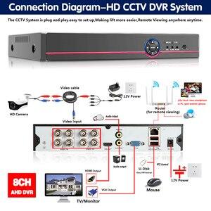 Image 3 - New スーパー 8CH 5MP AHD DVR デジタル NVR ビデオレコーダー Cctv セキュリティカメラ IP Onvif ネットワーク HD 5.0MP 警報多機能