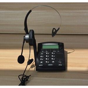 Image 3 - コード電話機コールセンターダイヤルパッドヘッドセット電話 fsk と DTMF 発信者 ID & リダイヤル、調整可能な液晶輝度 & ボリューム
