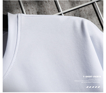 Men Sets White Fashion Hip Hop Tracksuits Male T Shirts Shorts Two Pieces Sports Tee Shirts Shorts Men's Track suit Oversize 4XL 4