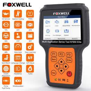 Foxwell NT650 Elite OBD2 Car Diagnostic Tool Engine ABS SRS Airbag 20 Reset function Auto Scanner Automotivo OBD 2 Code Reader(China)