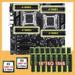 Huananzhi Giảm Giá X79-16D Bo Mạch Chủ CPU RAM Combo Dual CPU Intel Xeon E5 2697 V2 2.7GHz Bộ Nhớ 256G (16*16G) recc