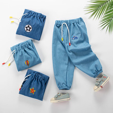 Summer baby girl thin jeans trousers kids clothes casual childrens teenager cowboy boy