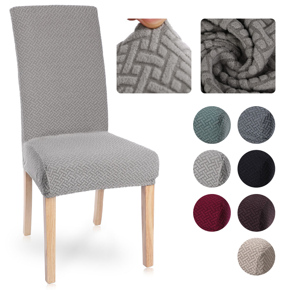 1/2/4/6Pc Spandex Stretch Elastic Slipcovers Solid Color Chair Cover Chair Covers For Dining Room Kitchen Wedding Hotel Banquet