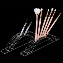 2pcs Pen Holder Display Brushes Rack Acrylic Stand Holder for Nail Art Tool Display Manicure Nail Art Tools Pen Brushes Display