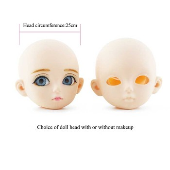 Hot 60CM BJD Doll 21 Moving Joints 1/3 Nude Bald Body Makeup Without Hair 3D Blue Eyes Opening Cover DIY Girl Dress Up Toy Gift treatment of joints health elbow patch with merino wool gift warm up warm up joints warming bandage m ecosapiens