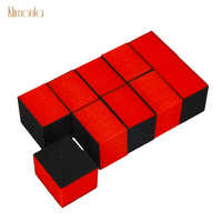 100pcs Red Mini Lixa De Unha Para Gel Polonês Nail Art Lustrando Lixar Esponja Arquivos Ferramentas DIY Salão 80/ 100/80