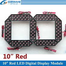"""10 قطعة/الوحدة 10 """"اللون الأحمر في الهواء الطلق 7 سبعة الجزء LED وحدة عدد الرقمية للغاز سعر LED وحدة العرض"""