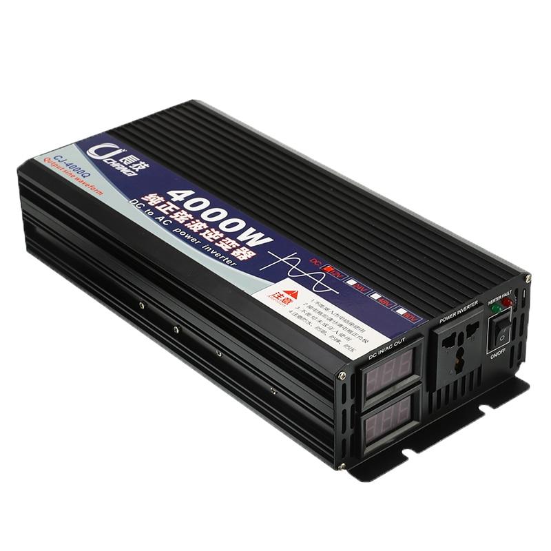 Чистая Синусоидальная волна инвертор 4000 Вт пиковый DC 12 В в AC 220 В двойной дисплей домашний преобразователь зарядное устройство Блок питания ... - 5