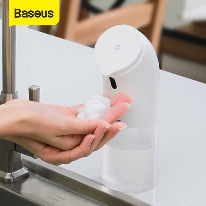 Baseus Hand Washer Automatic Induction Foaming Touch-less Soap Dispenser 0.25s Infrared Induction For Family Smart Home Kitchen