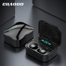 Bluetooth 5.0 True Wireless Earbuds Portable HiFi Stereo TWS Earphone Sport Wireless Headphone Touch Control With Microphone