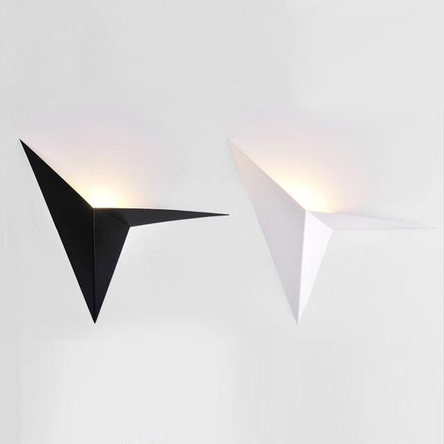 LED nowoczesny minimalistyczny trójkąt żelaza sztuki kształt kinkiety styl skandynawski kryty kinkiety oświetlenie do salonu 5W / 3W AC85 265V