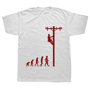 Image 5 - האבולוציה של הבלם מצחיק חשמלאי מתנת חולצה