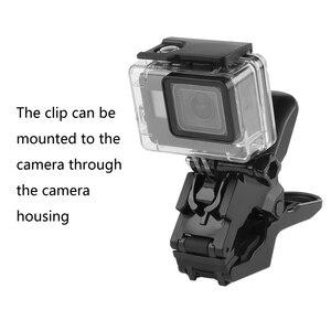 Image 2 - Gęsiej szyi ramię szyi statyw regulowany elastyczny zacisk klip dla GoPro Hero 9 8 7 6 5 czarny Sjcam Xiaomi Yi Camera akcesoria