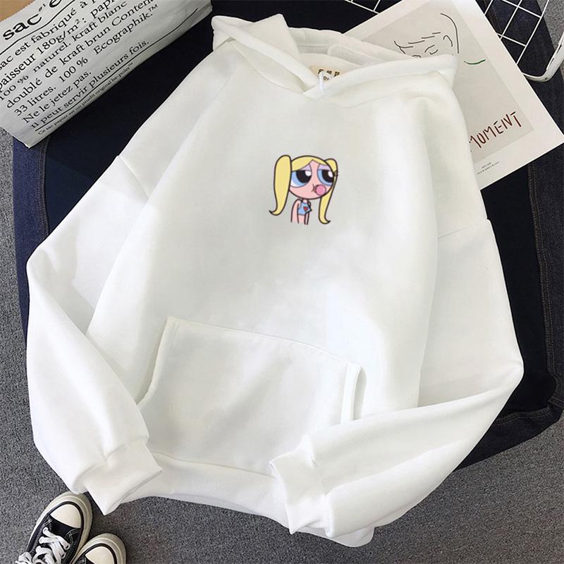 Sweatshirt Spring Streetwear Flower Printing Hoodies Pullovers 2020 Fashion Harajuku Winter Hoodie Women Loose Korean Style
