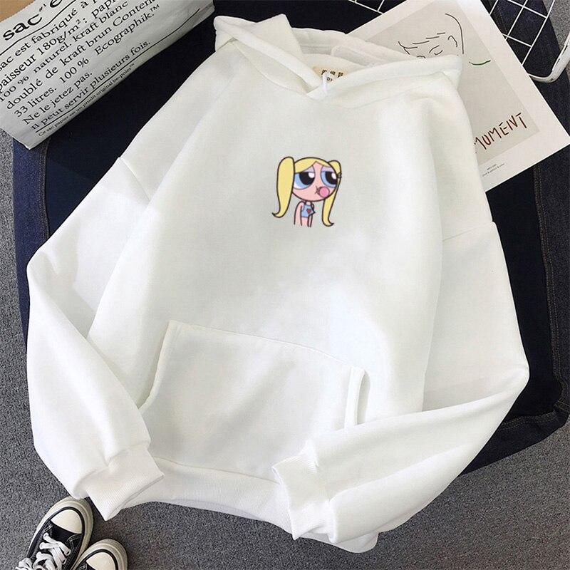 Sweatshirt Spring Streetwear Flower Printing Hoodies Pullovers 2020 Fashion Harajuku Winter Hoodie Women Loose Korean Style