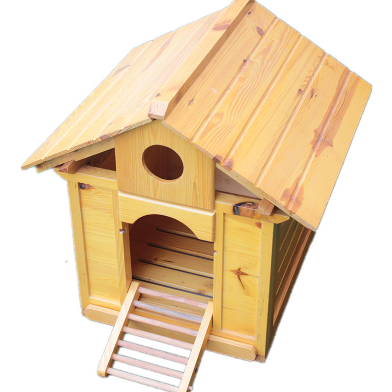 Zhejiang, Shanghai And Anhui Solid Wood Fir Doghouse <font><b>Dog</b></font> House <font><b>Kennel</b></font> Cat Litter Indoor Outdoors Use Pets Nest image