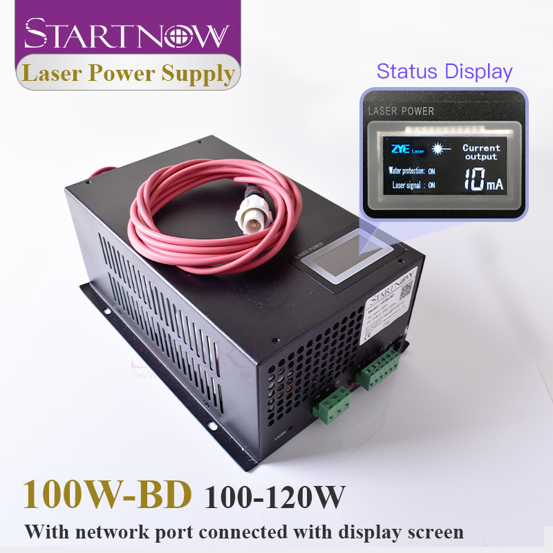 Startnow 100W-BD 100W CO2 Laser Power Supply 120W With Display Screen 110W PU MYJG-100 For Laser Engraving Cutting Machine Parts