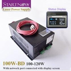 Startnow 100W-BD 100W zasilanie lasera CO2 120W z ekranem wyświetlacza 110W PU MYJG-100 do części maszyna do laserowego cięcia i grawerowania