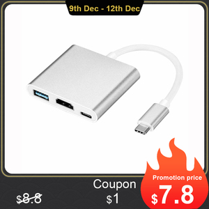 Image 1 - Type C USB 3.1 to USB C 4K HDMI USB 3.0 Adapter Cable 3 in 1 Hub For Macbook Pro