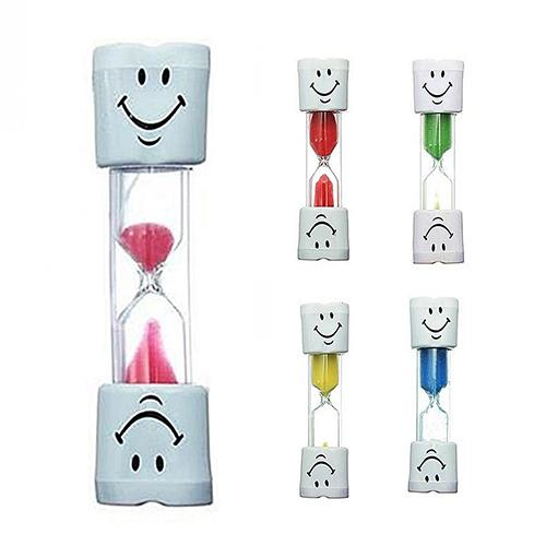 Children Kids Sandglass Toys Tooth Brushing Timer 2 Minutes Smiling Face Sandglass Hourglass Timer Toy Chronograph Reminder Toys