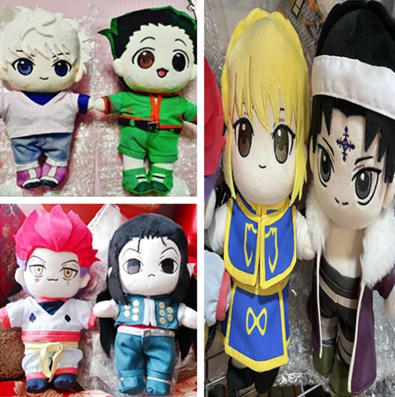 HUNTER X HUNTER Killua-muñeco de peluche Hisoka Kulolo, juguete de exhibición con ropa, límite de 20cm, para aficionados del cosplay