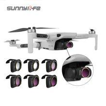 Sunnylife Camera Lens Filter For Dji Mavic Drone Accessories Mavic Mini/Mavic Mini 2 Filters Set MCUV ND NDPL CPL 4/8/16/32