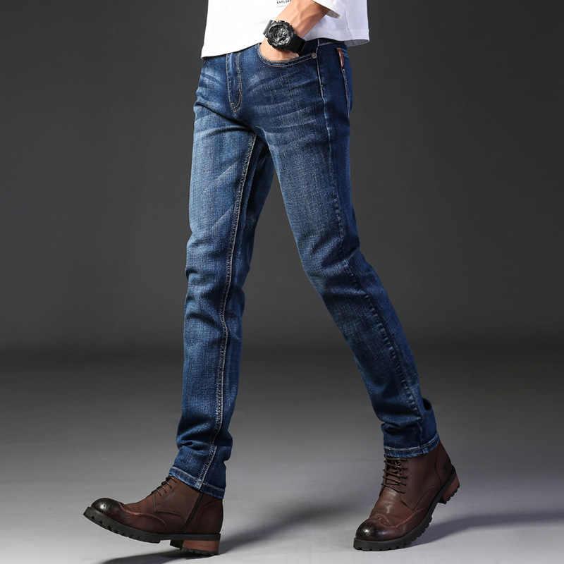 Pantalones Vaqueros Retro Nostalgicos Para Hombre Jeans Largos A La Moda Informales Sueltos De Negocios Pantalones Vaqueros Aliexpress