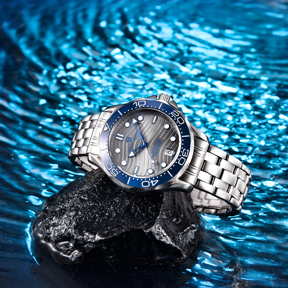 2021 New PAGANI DESIGN Wave Men Mechanical watch Luxury Automatic Watch for men NH35 Sapphire crystal Dive wristwatch clock man 5