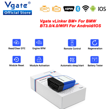 Vgate vLinker BM+ For BMW Scanner ELM327 Bluetooth 4.0 OBD 2 wifi OBD2 Car Diagnostic Tool ELM 327 Auto ODB2 For BMW Bimmercode