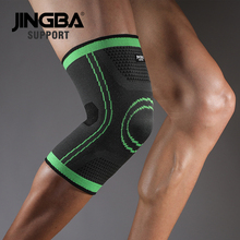 JINGBA SUPPORT Sports basketball knee pads brace support Elastic Nylon Compression protector rodillera deportiva