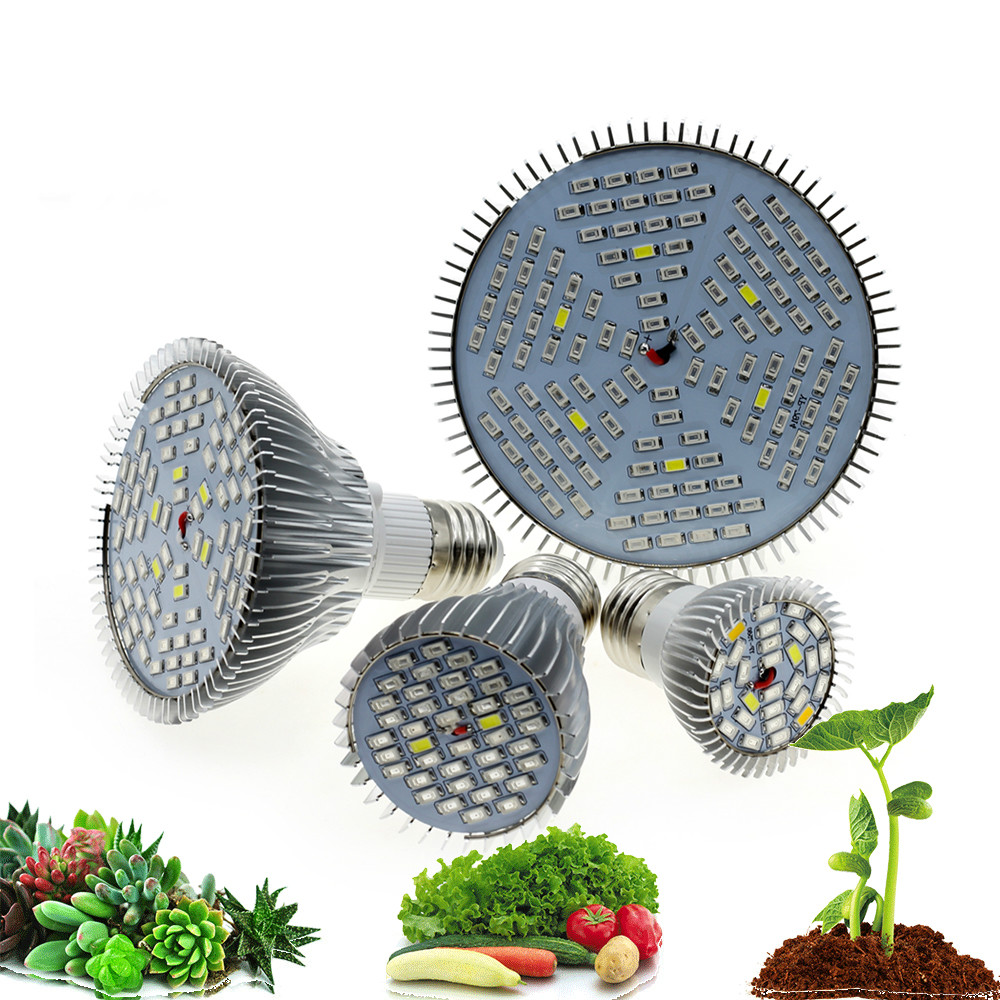 Full Spectrum LED Bulb For Plant Growth 6W 10W 30W 50W 80W Phytolamp E27 UV Light Bulbs For Plants Flowers Seedlings Grow Tent