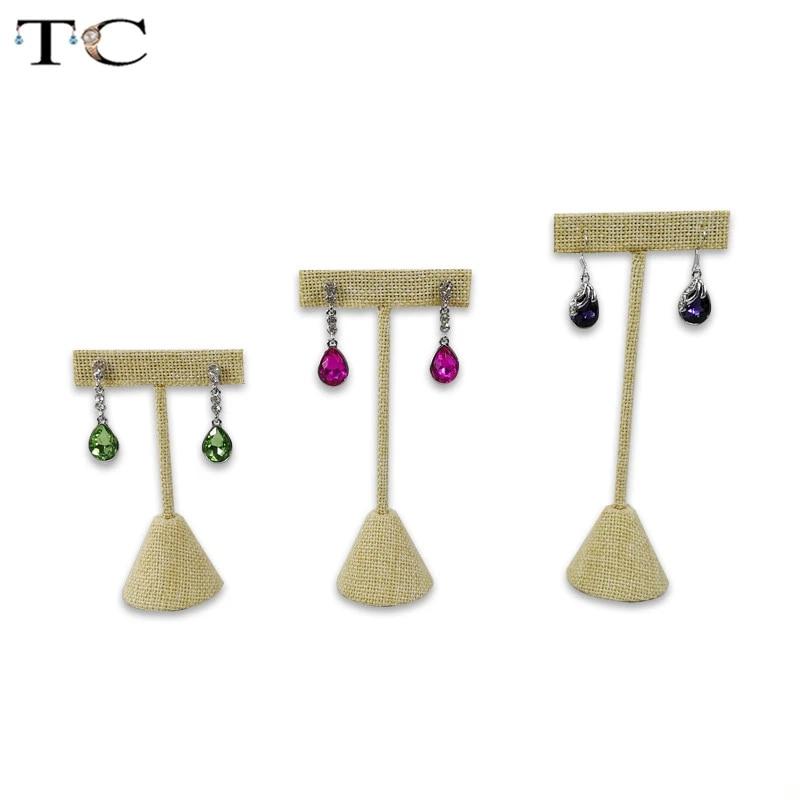 Jewelry Display Earrings Organizer T Bar Showcase Stand Holder Storage Hanger