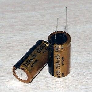 Image 1 - Nichicon capacitor de áudio muse nichicon, 2 peças 18x 35.5mm, ouro fino 2200uf 35v finegold 2200uf35v, capacitor de áudio 2200uf/35v