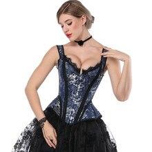 Topmelone corsetto vittoriano retrò Steampunk corsetti disossati floreali top cinturino in pizzo da donna bustier Slim corsetto con lacci gotici