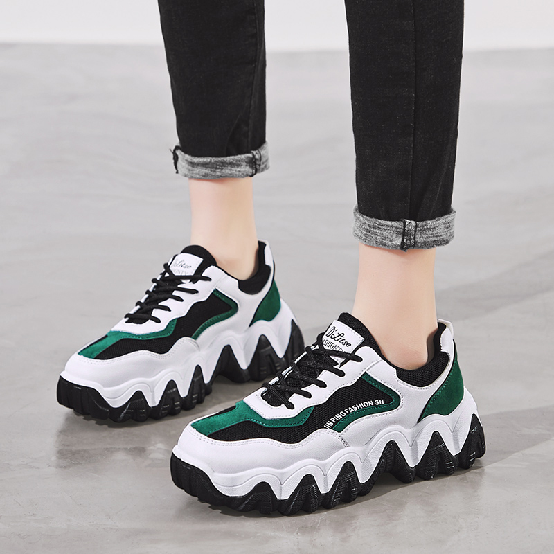 Damyuan shoes Women's Sneakers Women's Summer Shoes Breathable Women's Tennis Women's Shoes Platform Women's Colorful Heels