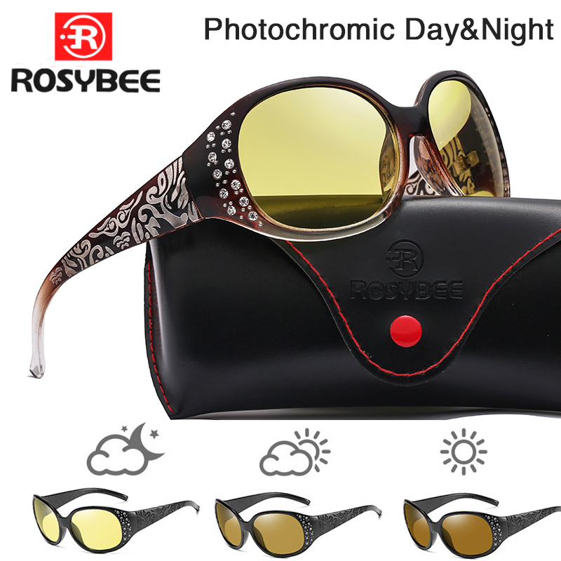 Day Night vision Photochromic Sunglasses Chameleon Polarized women Glasse All day change color for Snow light driving shades|Women's Sunglasses| - AliExpress