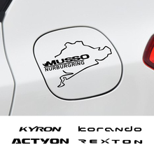 Car Fuel Tank Cap Stickers For SsangYong Actyon Korando Kyron Musso Rexton Tivoli Auto Decor Vinyl PVC Decal Sport Accessories