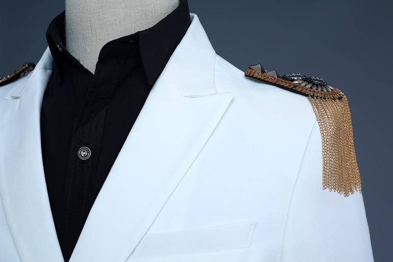 Деловые костюмы капитана для мужчин, выступления, пение, вечеринки, свадьбы, повседневная одежда