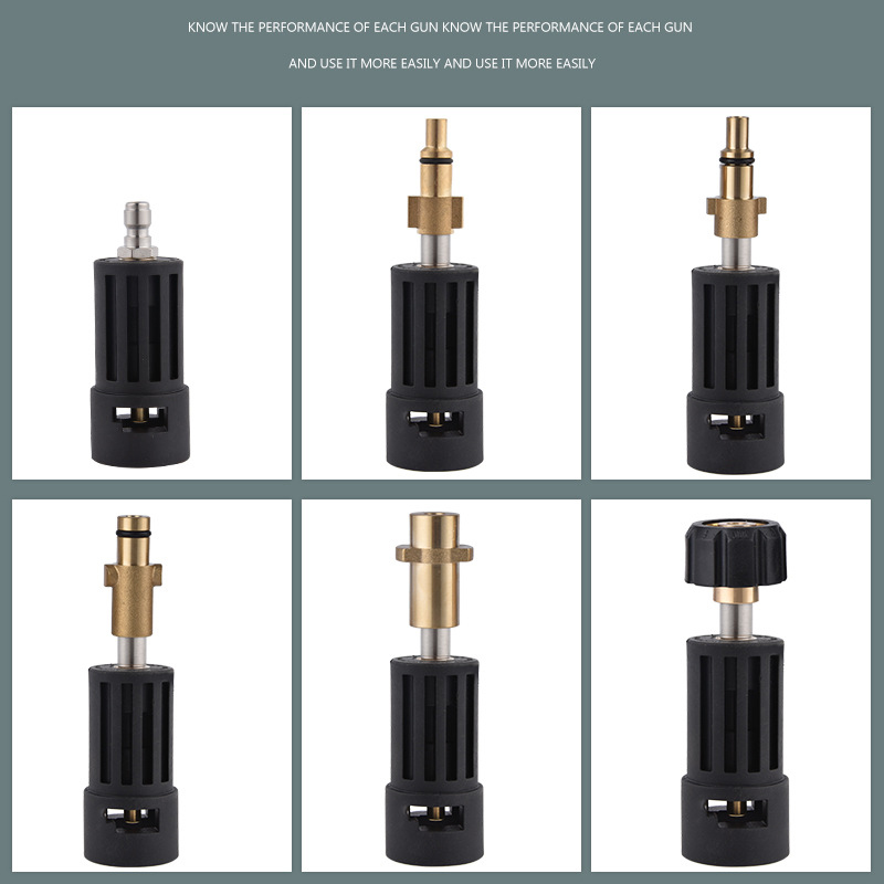 High Pressure Washer Connector Adapter For Connecting AR/Interskol/Lavor/Bosche/Huter/M22 Lance To Karcher Gun Female Bayonet