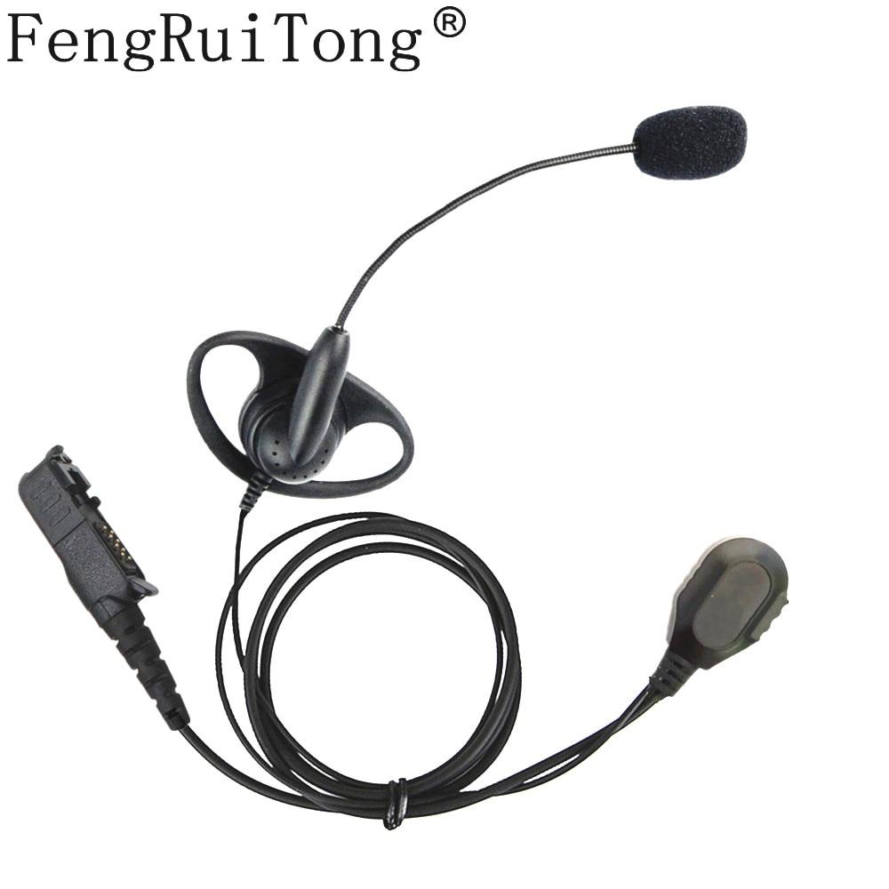 Walkie Talkie Headset Iron Clip D Type Mic Stick Tactical Headphone For Motorola Xir P6600 P6620 XPR3300 XPR3500 MTP3250  Radio