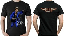 Johnny hallyday t-shirt image droit Et verso fan hommage maillot HOMME uomo